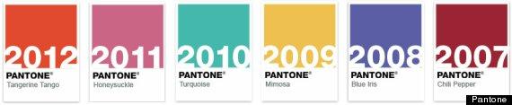 el color pantone del año últimos años