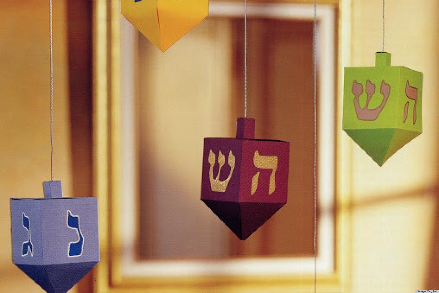 Hanukkah Craft Ideas Paper Dreidels Huffpost