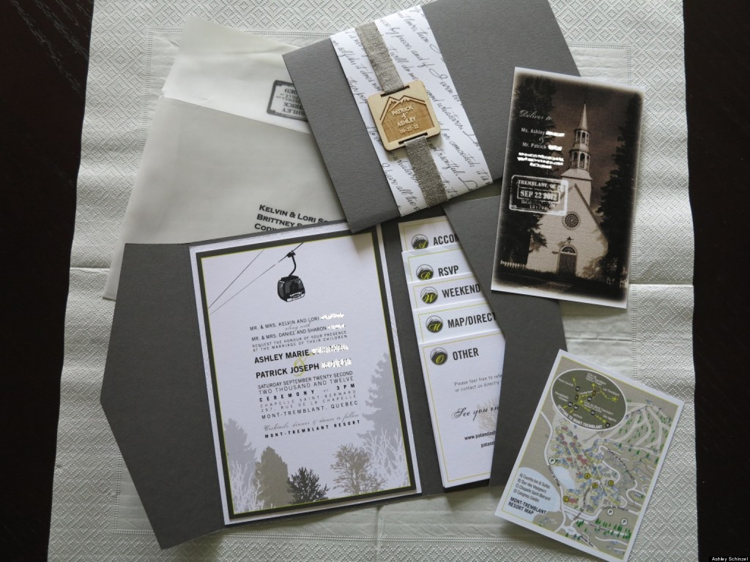 Gifts Using Wedding Invitation: Wedding Invitation Ideas From Real Weddings (PHOTOS