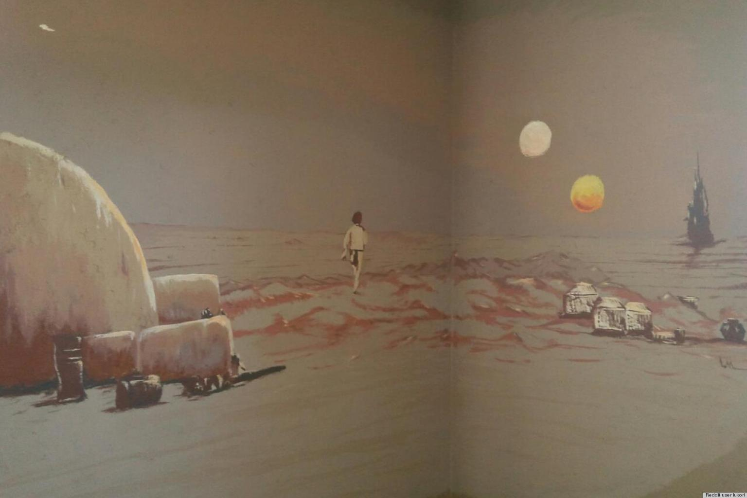 A Star Wars Bedroom Mural Fit For A Superfan, As Seen On Reddit (PHOTO) |  HuffPost