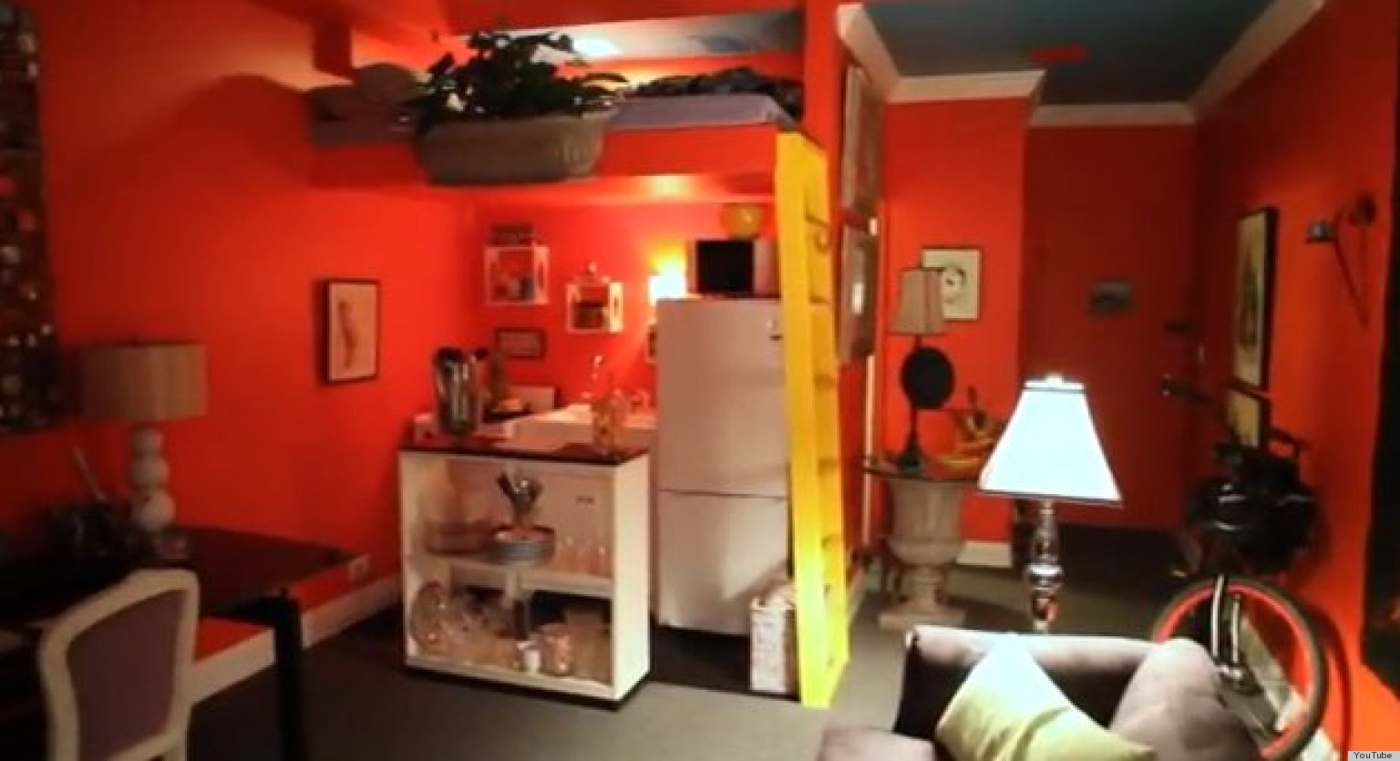 Small Space Ideas This Designer Makes His 225 Square Foot Apartment Work Wonders Video Huffpost