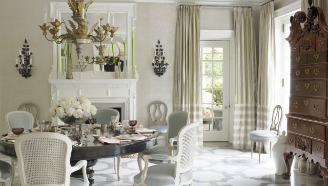 Bunny williams mixes georgian and modern style in this for Georgian dining room ideas