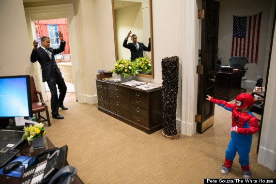 obama and spiderboy