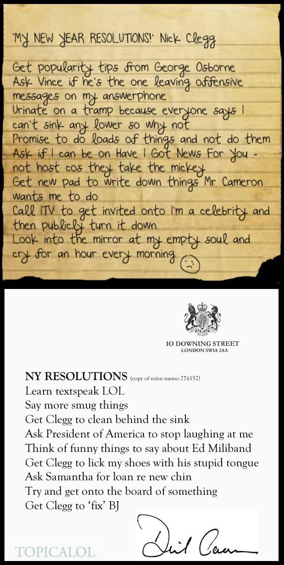 cameron clegg resolutions