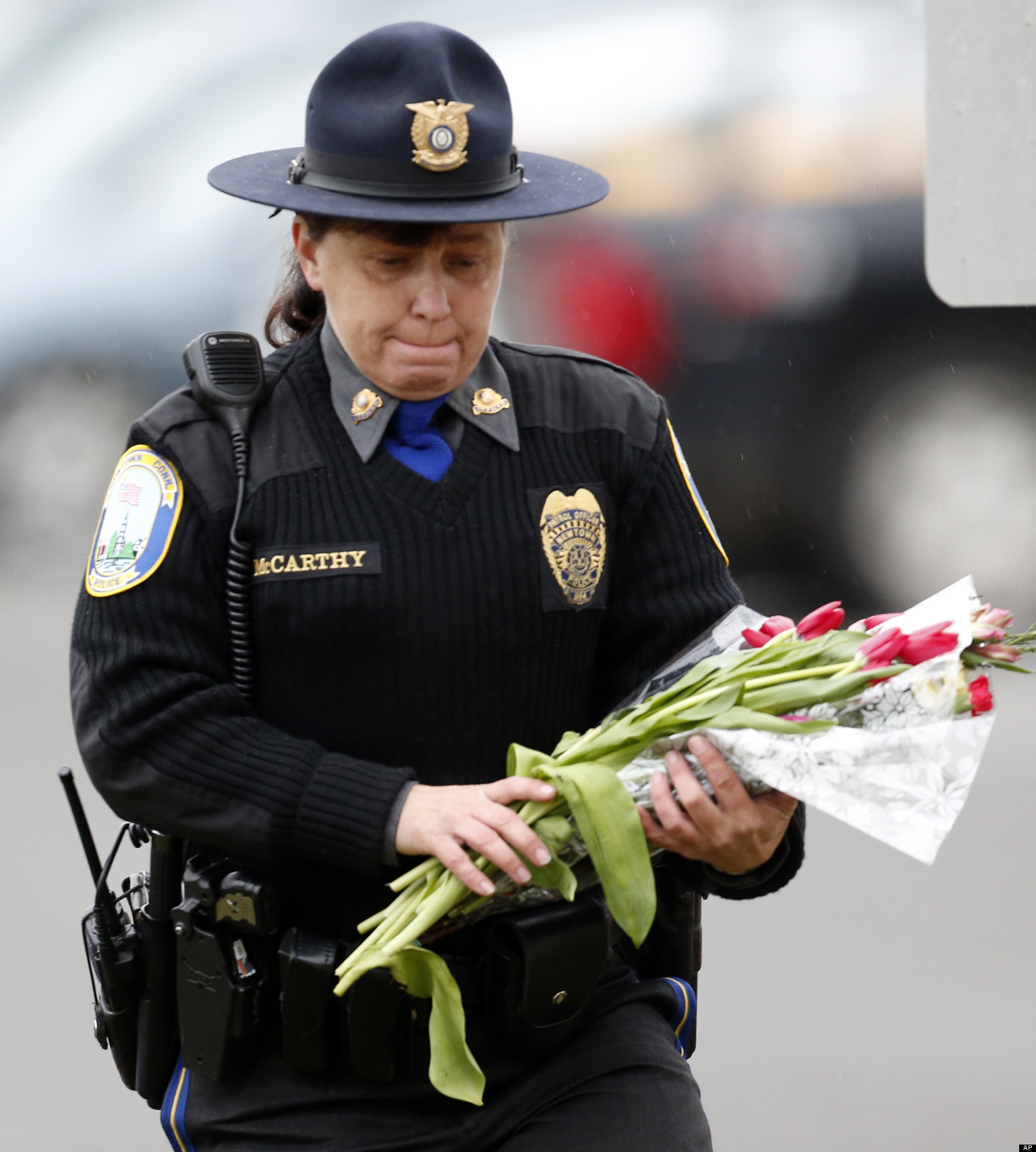 Scenes From Sandy Hook: Newtown Police Get Christmas Day Off, Thanks To