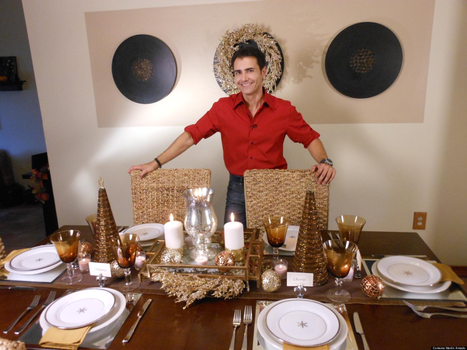 C mo decorar tu mesa para la cena de fin de a o fotos for Como decorar la mesa de navidad