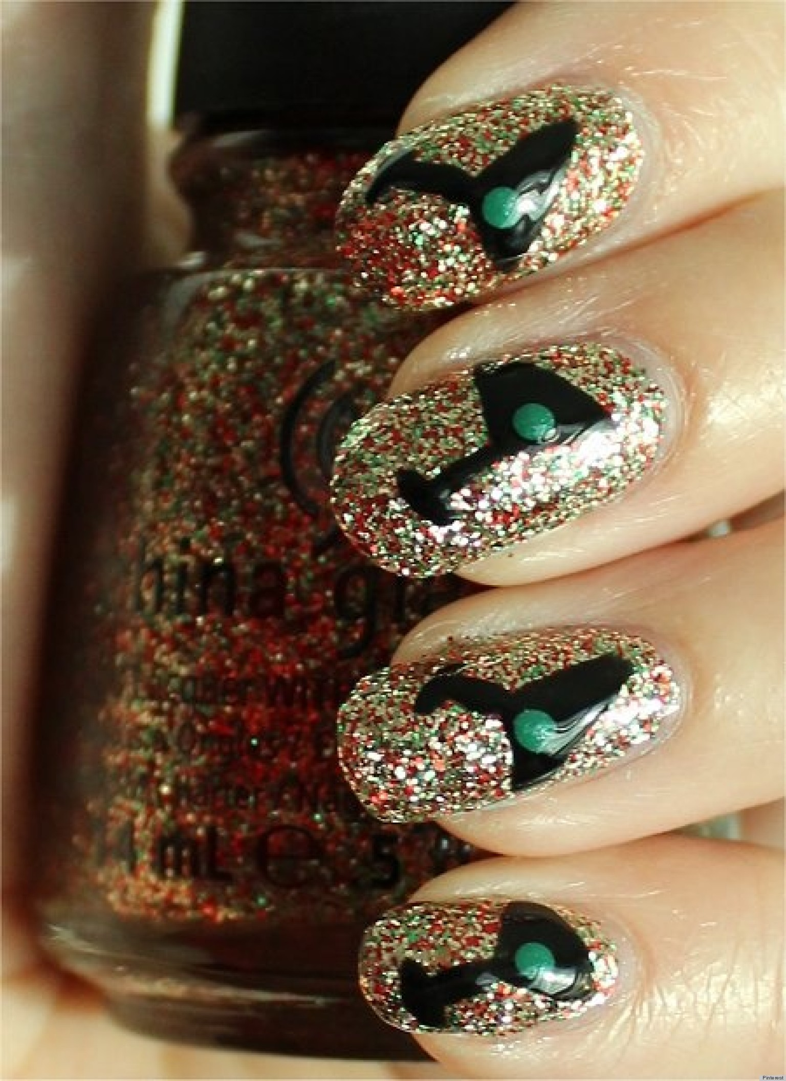 New Year\'s Eve Nail Art Ideas From Pinterest (PHOTOS) | HuffPost