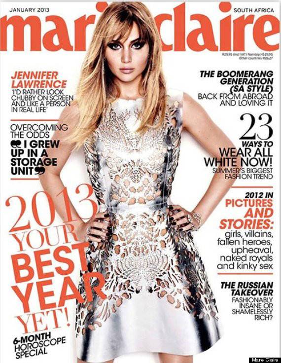 jennifer lawrence marie claire south africa