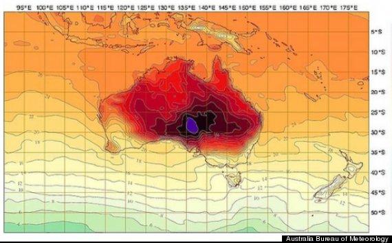 canicule australie météo