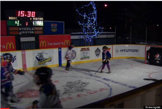 backyard rink leduc