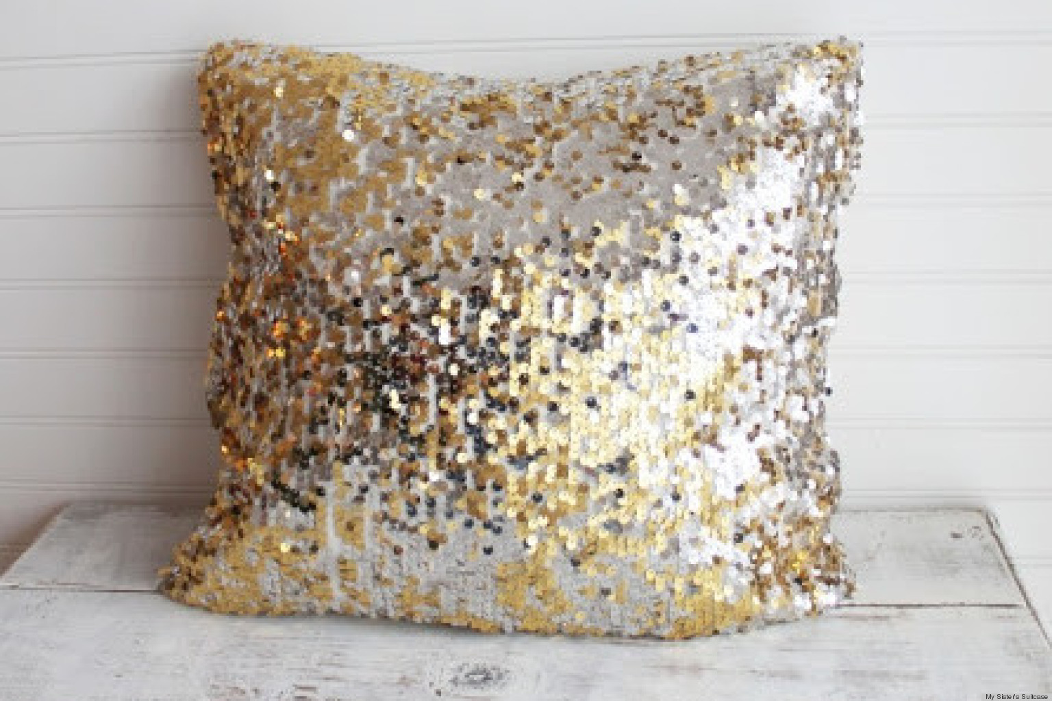Add Some Sparkle To Your Decor With A Sequin Throw Pillow | HuffPost