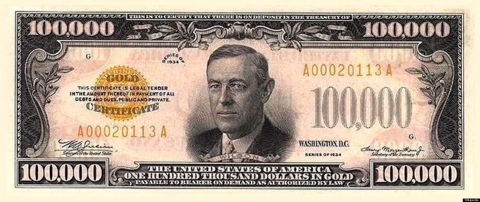 Large denominations of United States currency  Wikipedia