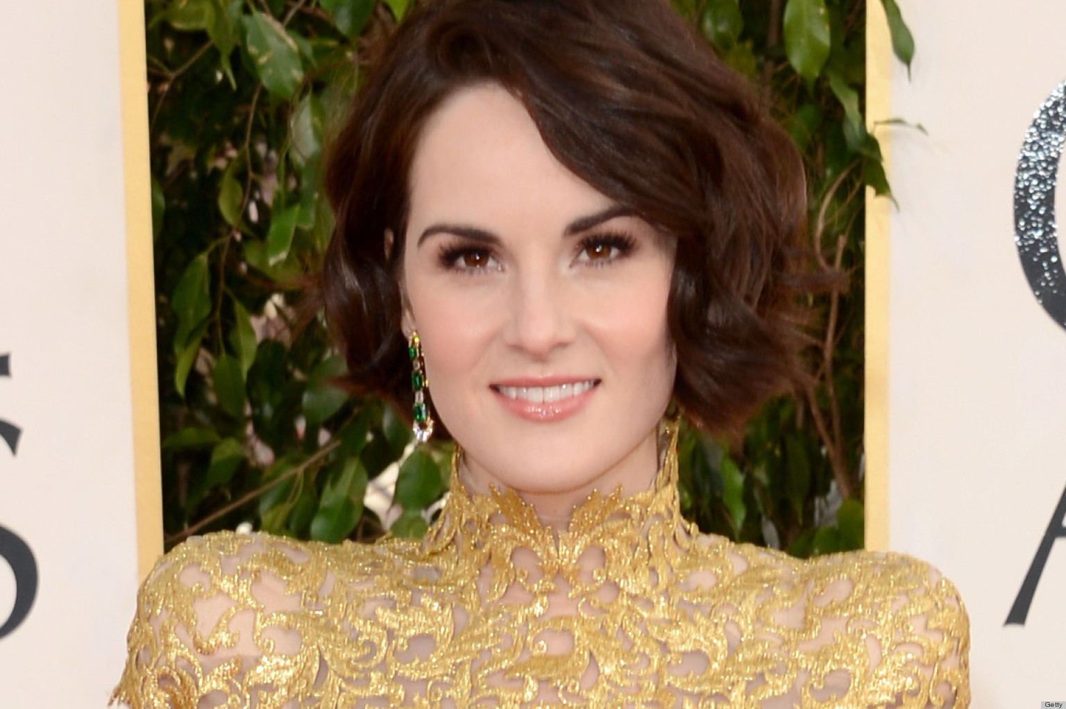 Michelle Dockery Golden Globes Dress 2013: See Her Red ...