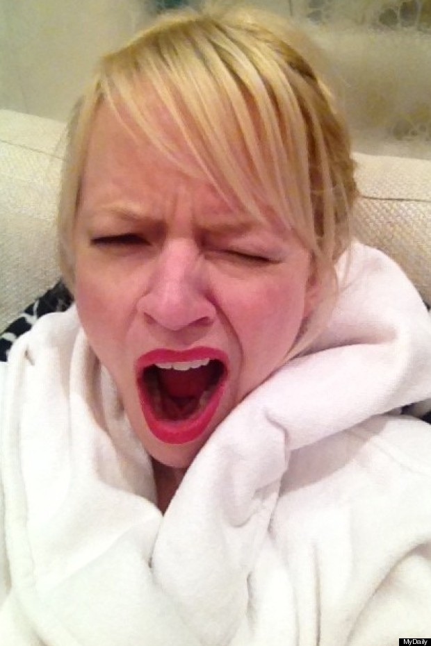 clare yawning
