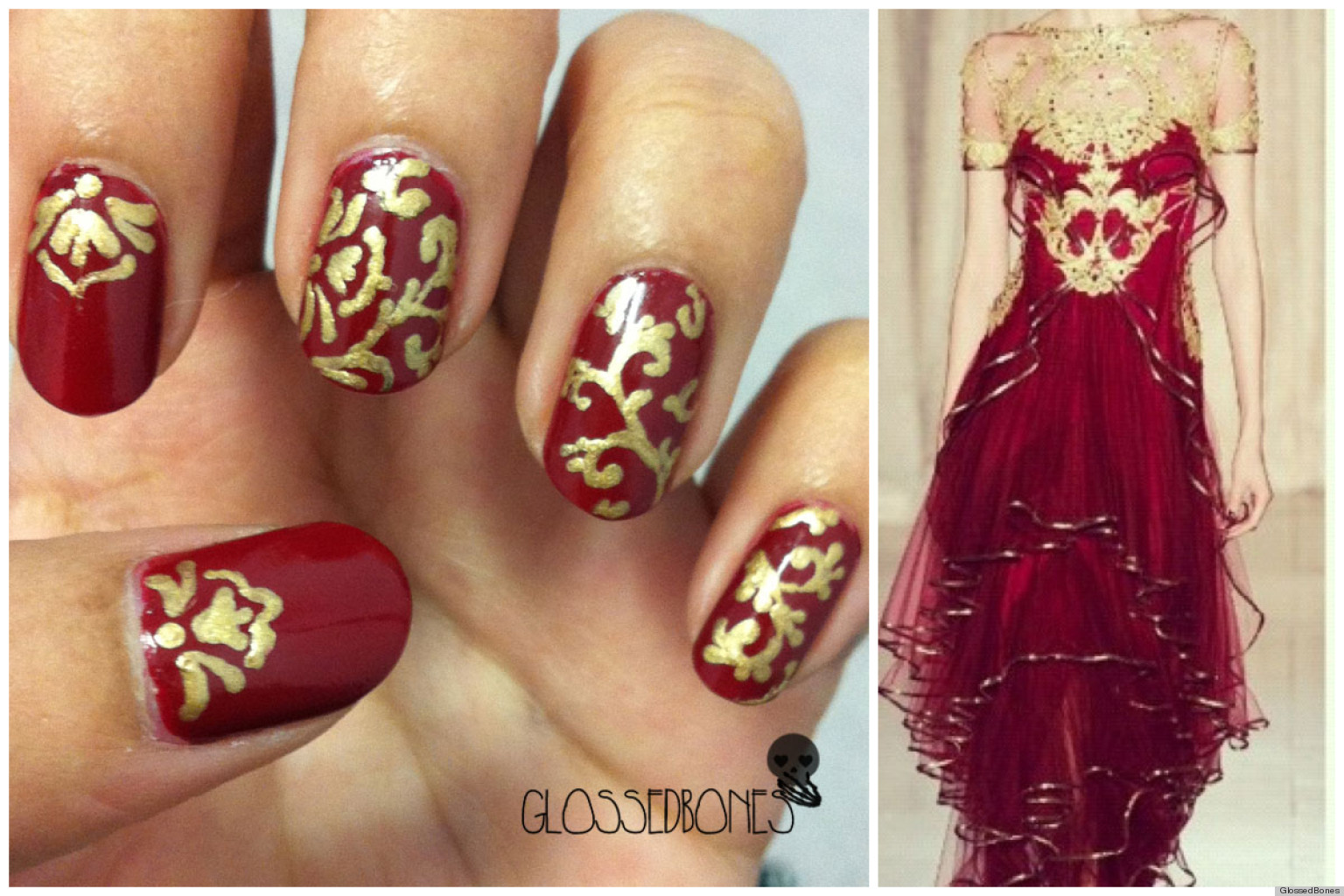 DIY Nail Ideas: Marchesa Nail Art And More Of Our Weekend Manicures ...