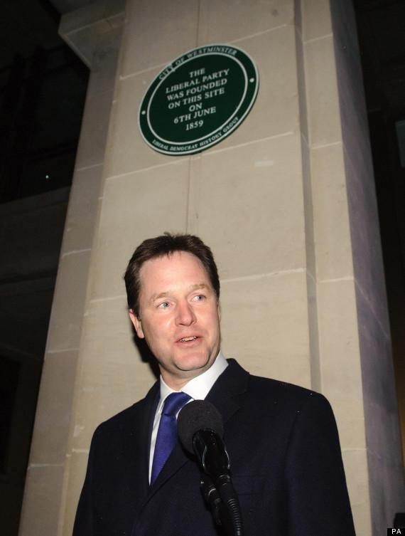 nick clegg plaque
