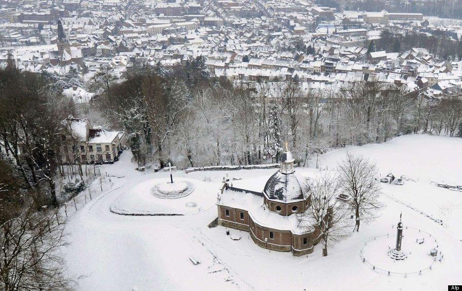 fotos bruselas nevada