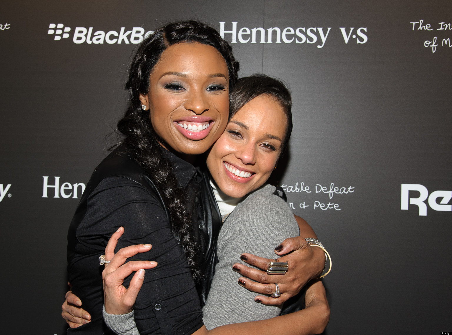 Jennifer Hudson Alicia Keys Get MatchyMatchy In Leather Tops At