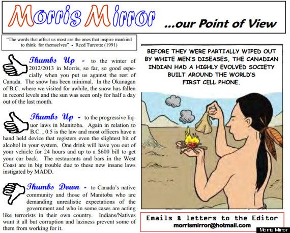 morris mirror racist editorial cartoon