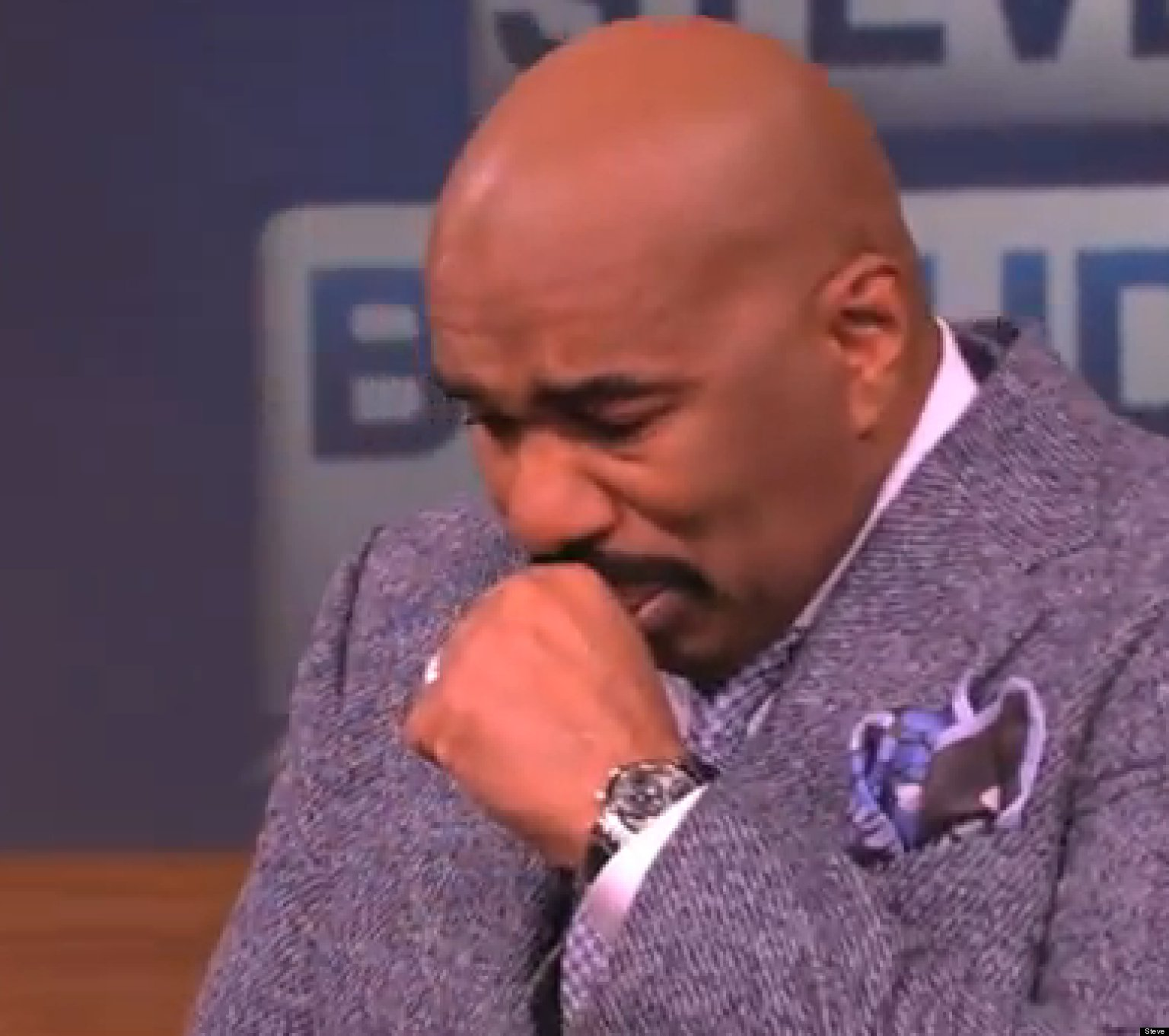 Man Cave Show Steve Harvey : Steve harvey cries breaks down on his tv show after