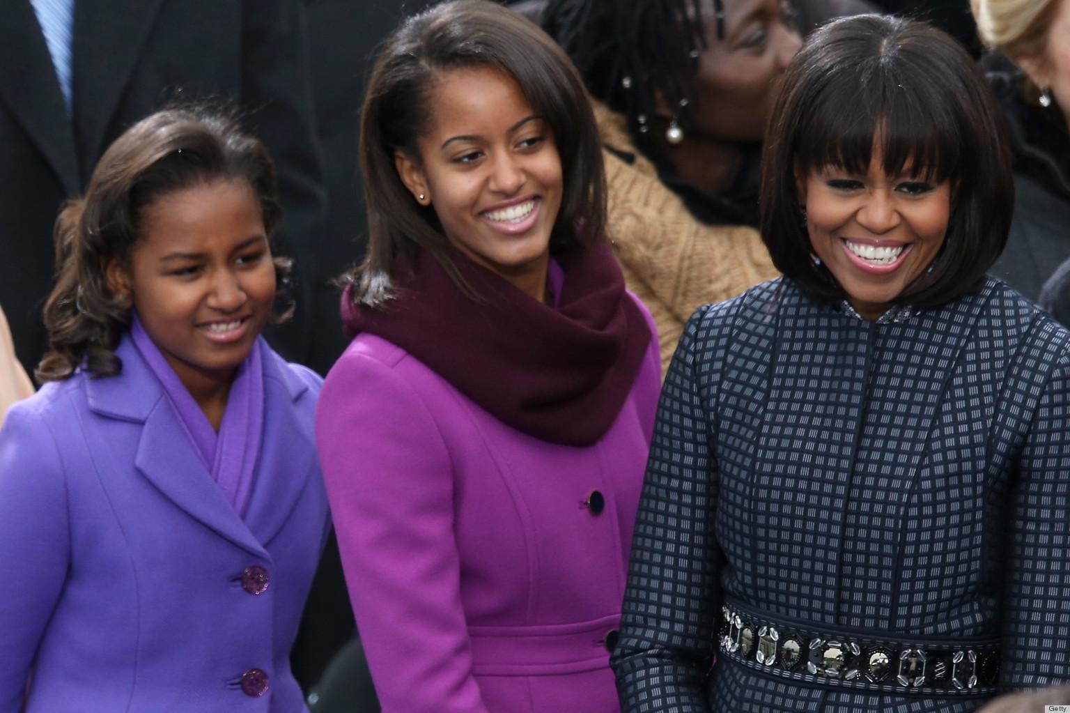 Sasha and malia inauguration pictures