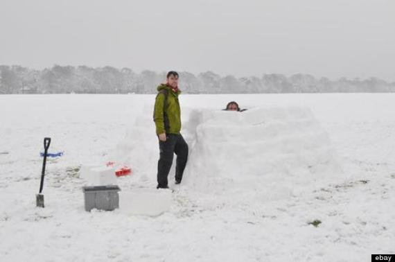 uk snow igloo