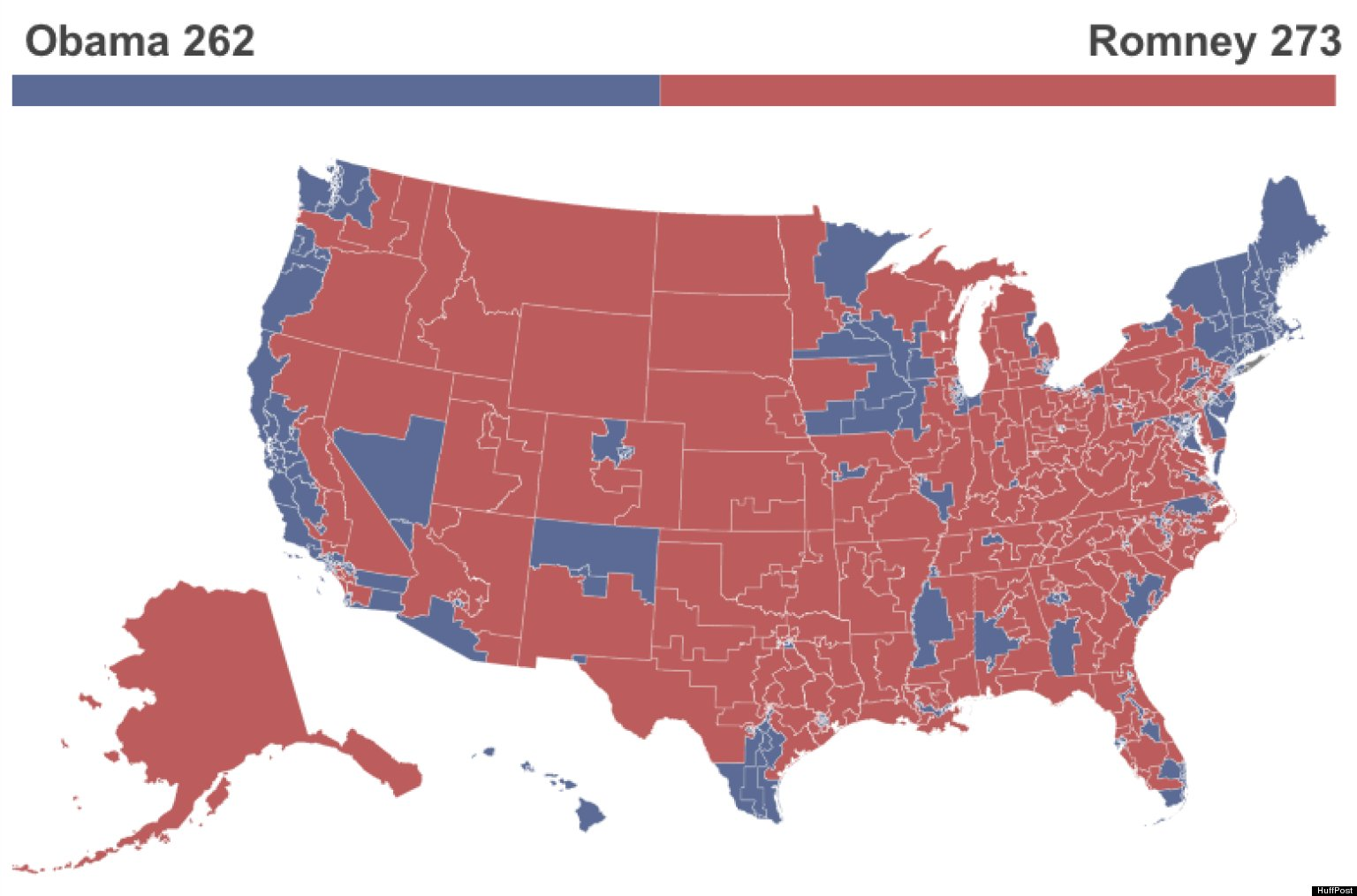 What The Election Would Look Like Under The Republicans Vote - Us map by electoral vote