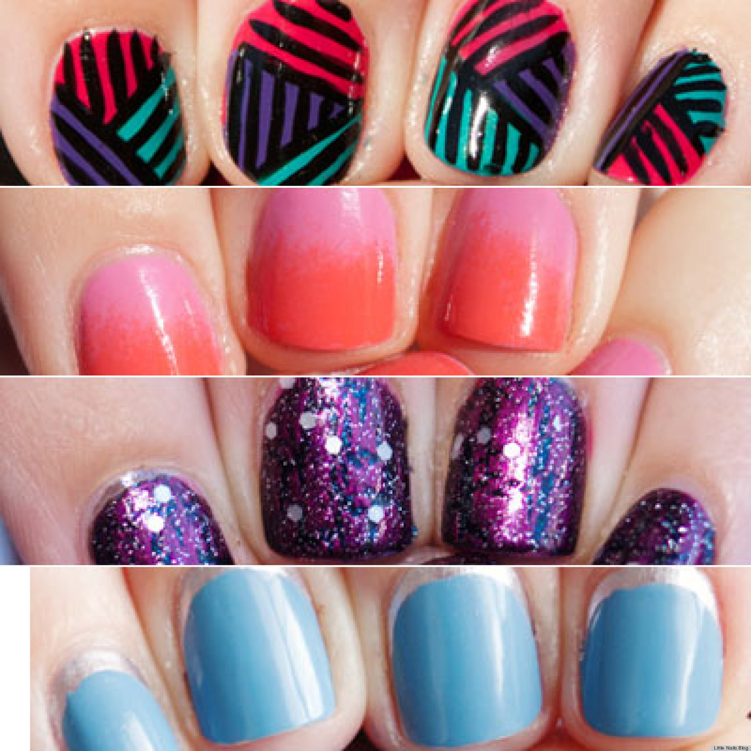 13 nail art ideas for teeny tiny fingertips photos huffpost - Nail Polish Design Ideas