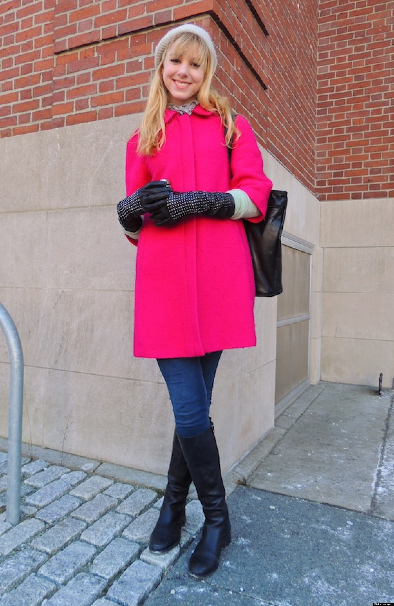how this brown university student looks chic in the cold huffpost. Black Bedroom Furniture Sets. Home Design Ideas