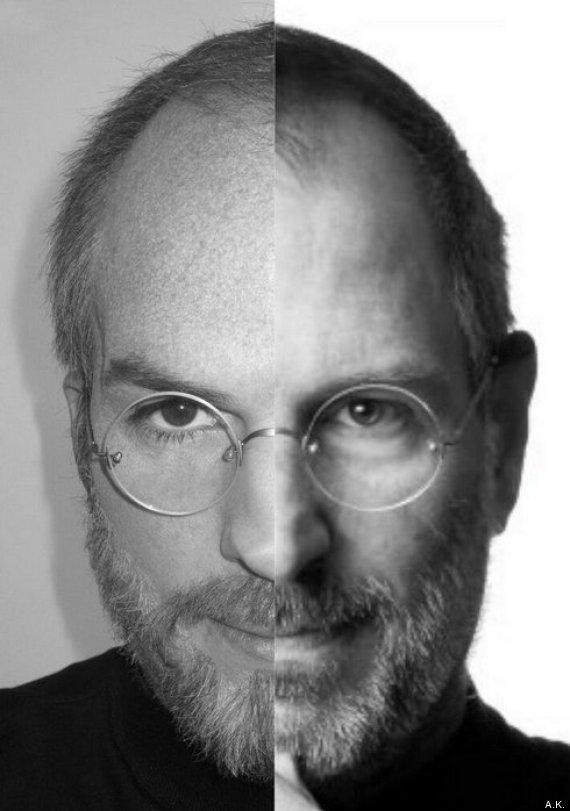 foto comparativa steve jobs asthon kutcher