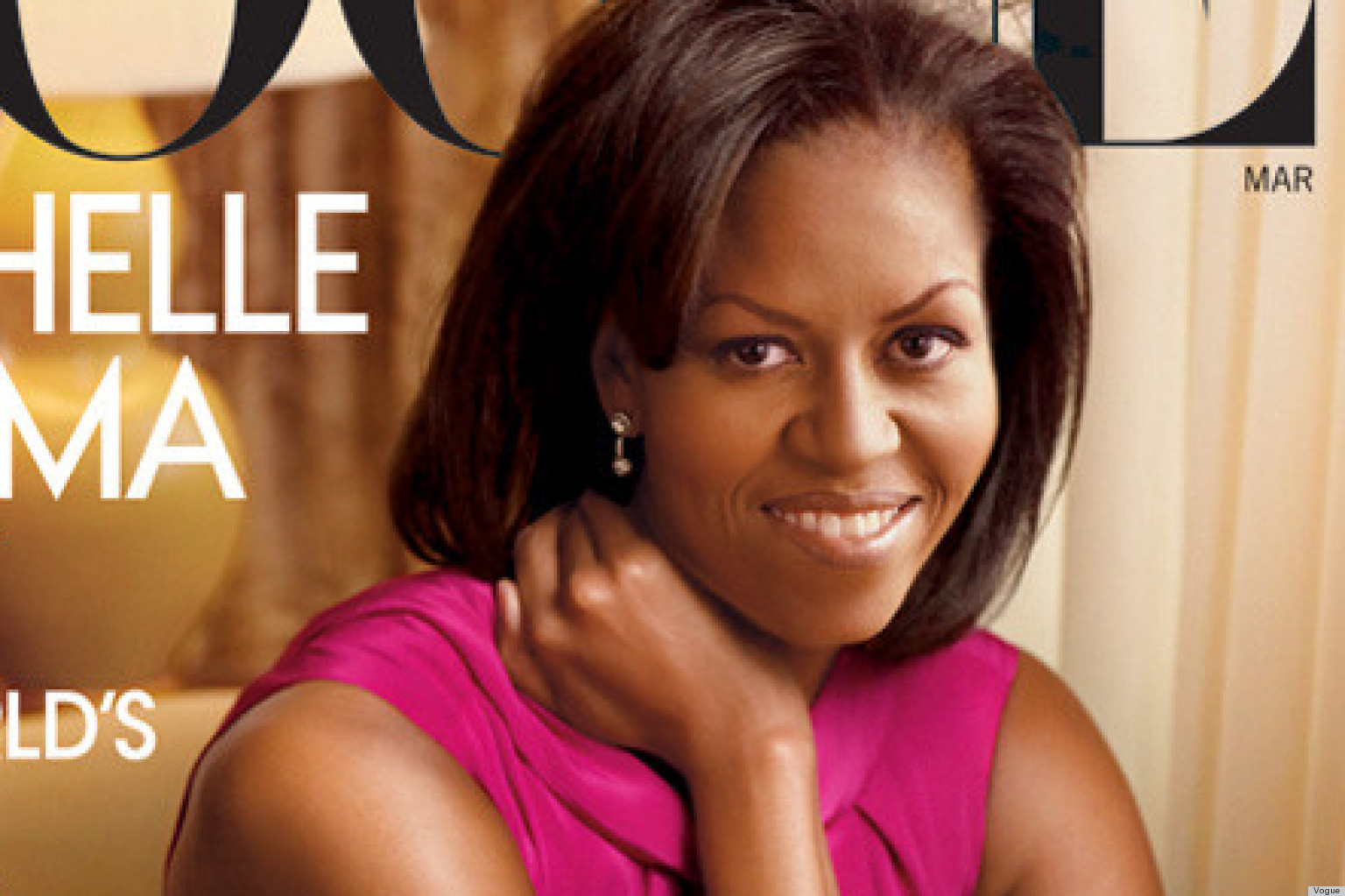 Michelle Obamas Eyebrows Appear Softer On Vogue April Cover
