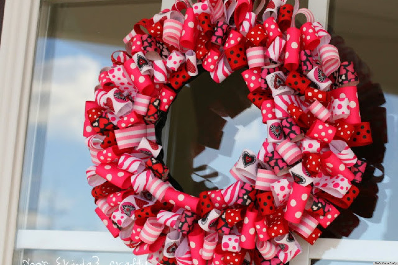 valentines day ideas charming ribbon wreaths to adorn your door huffpost
