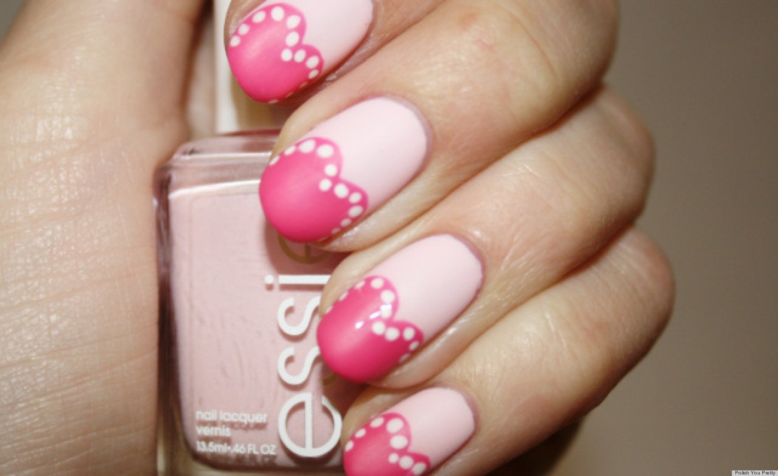 valentines day nail art pretty in pink hearts manicure photo huffpost - Valentines Nail