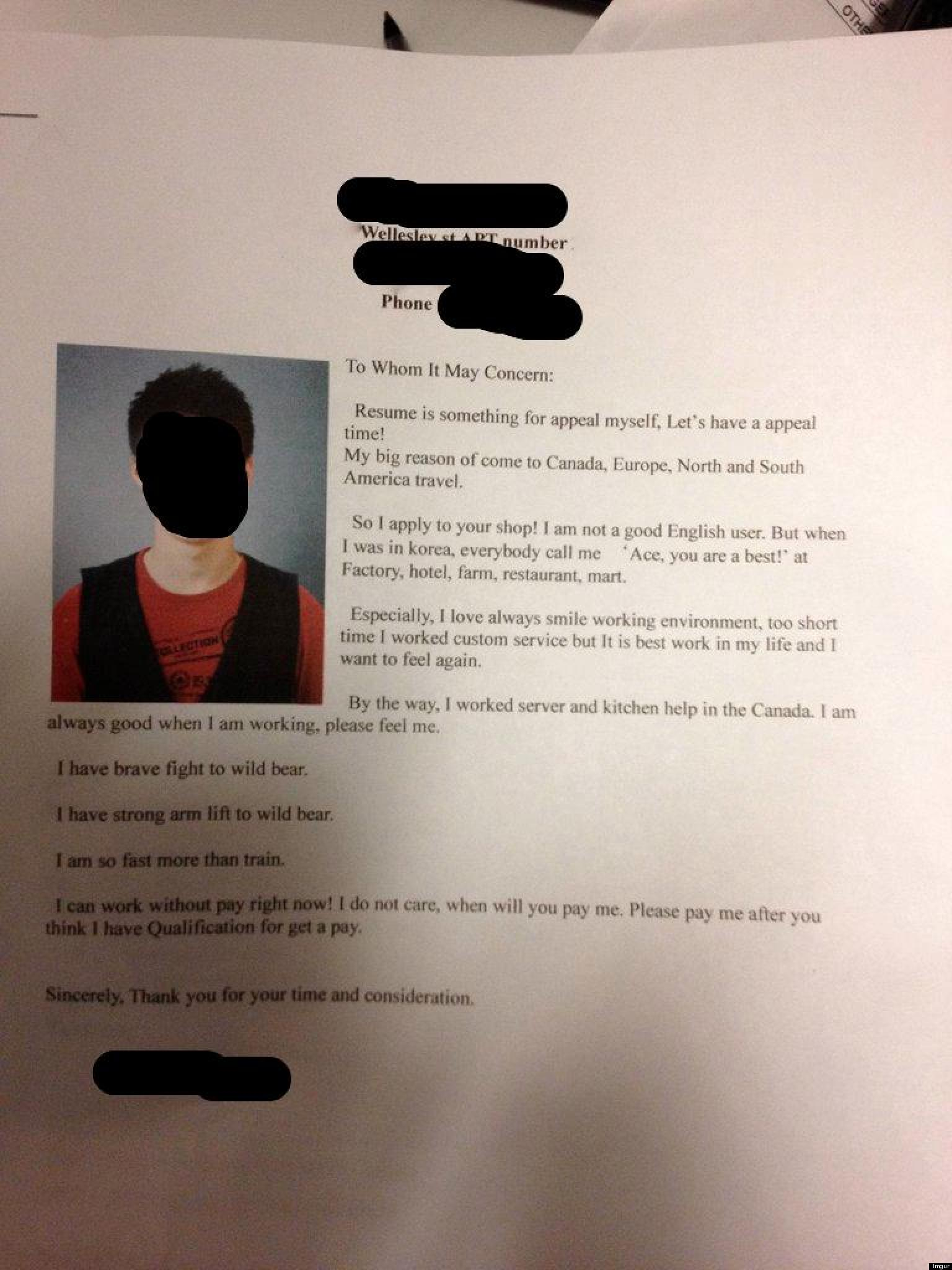 best viral cover letter ever south korea man writes epic job application photo huffpost - Fast Cover Letter