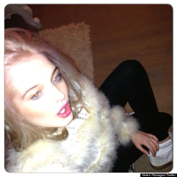 helen flanagan pink hair