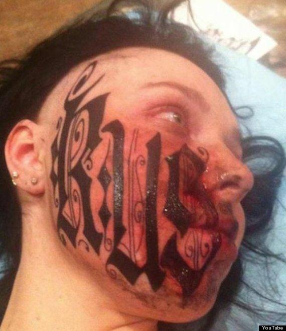 tatuajes en la cara