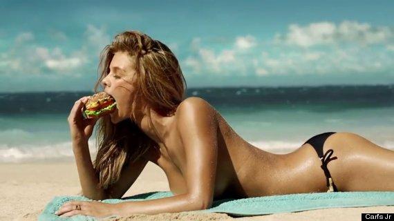 burger sexy advert nina agdal
