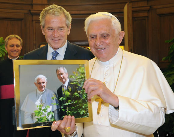 the pope george bush