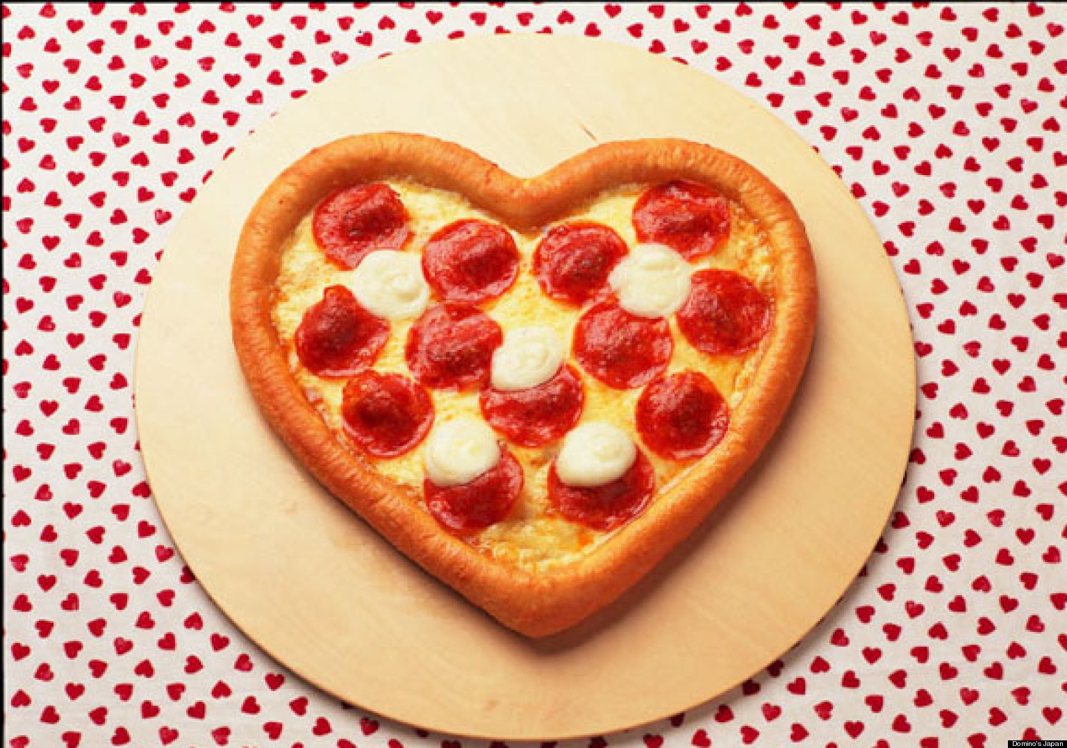 dominos japan debuts heartshaped pizza for valentines