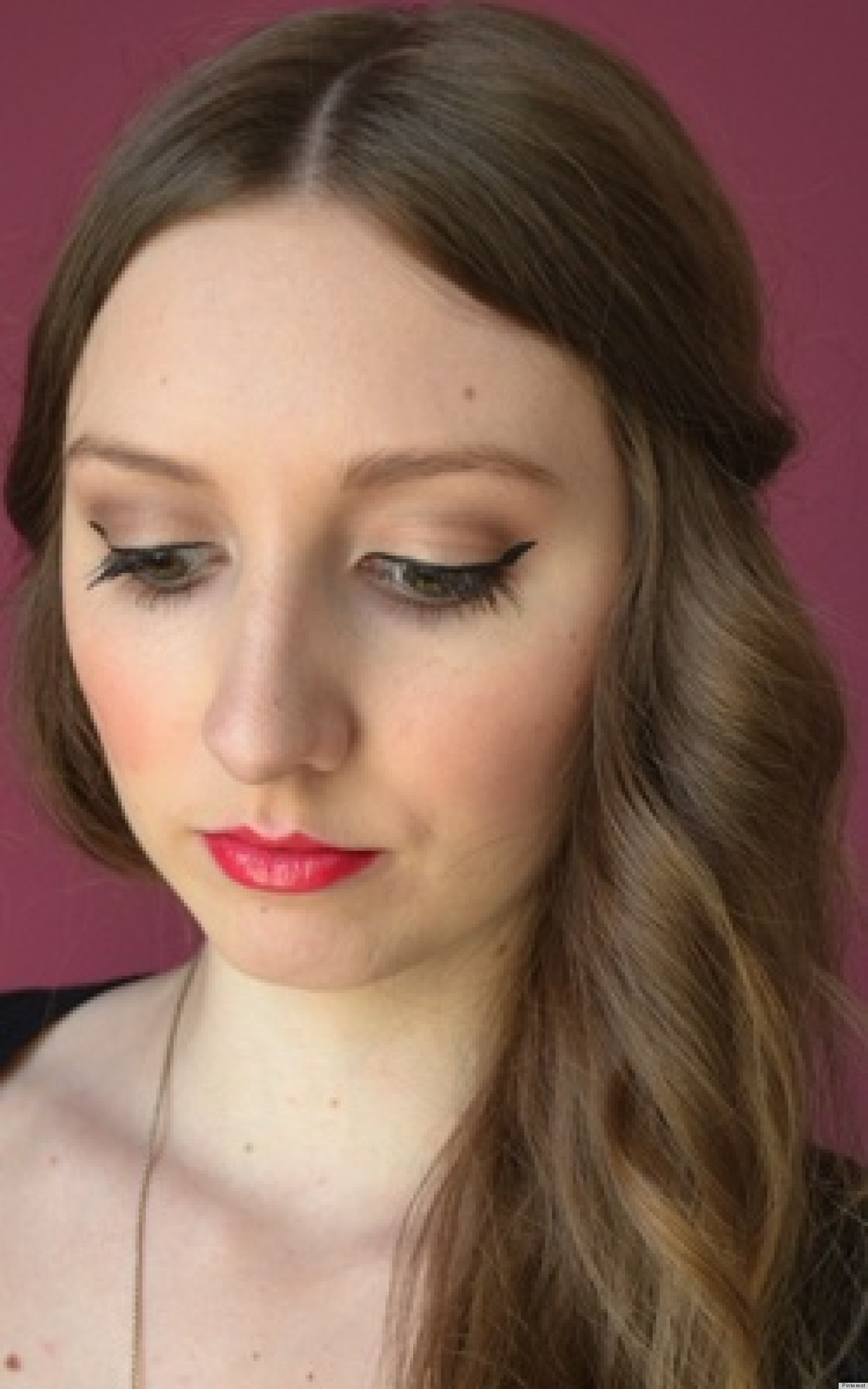 makeup looks valentine valentines lips classic pink eyes simple last eyeliner huffpost