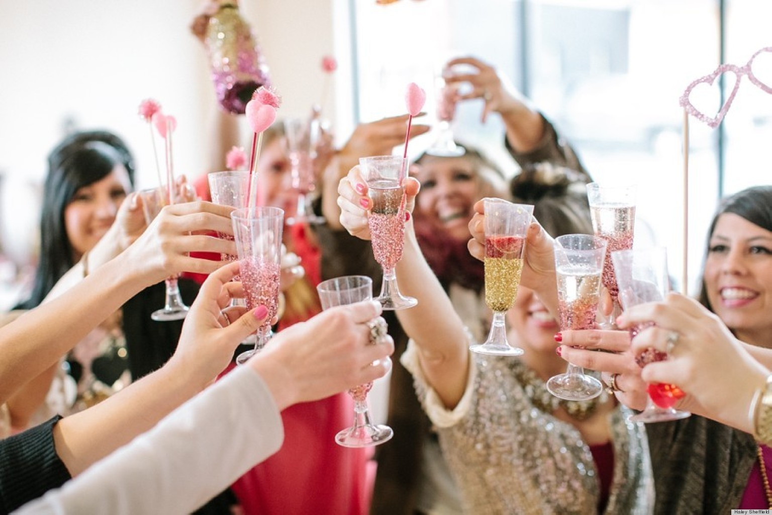 valentines day office ideas. Valentine\u0027s Day Ideas: Throw A Glitter-Inspired Party For Your Best Girlfriends   HuffPost Valentines Office Ideas