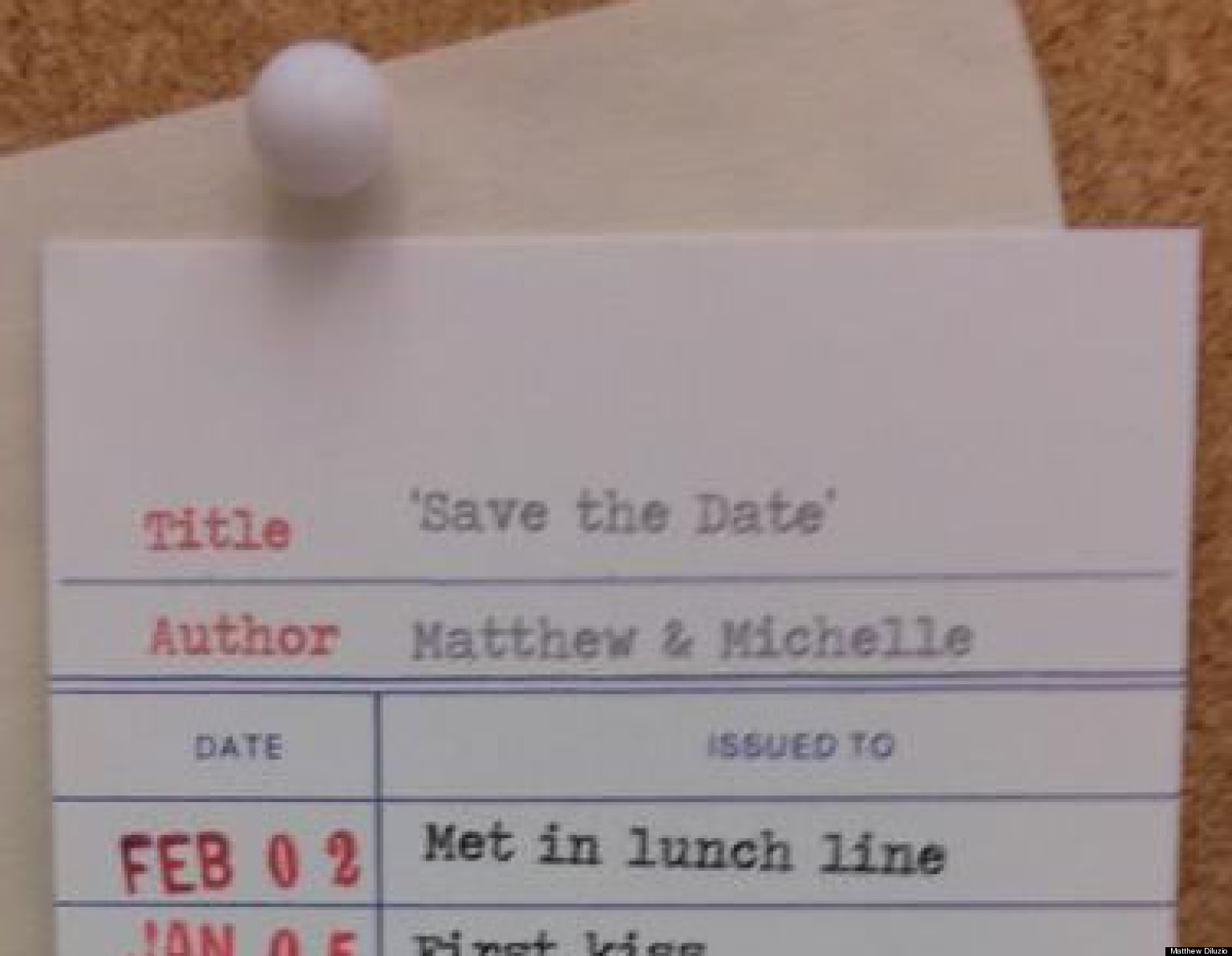 unique save the date card amazing stationery modeled after library checkout card photo huffpost