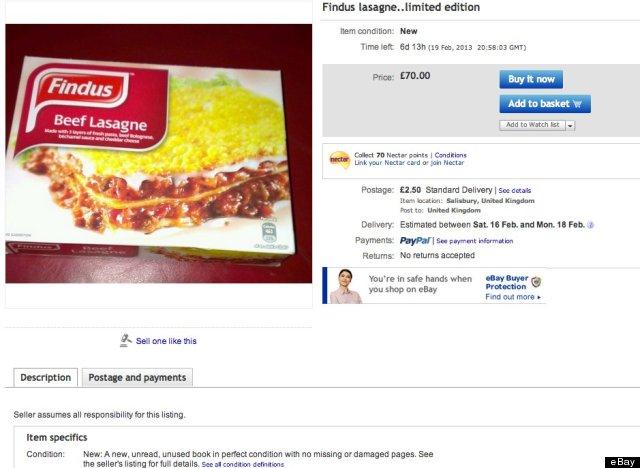 findus lasagne