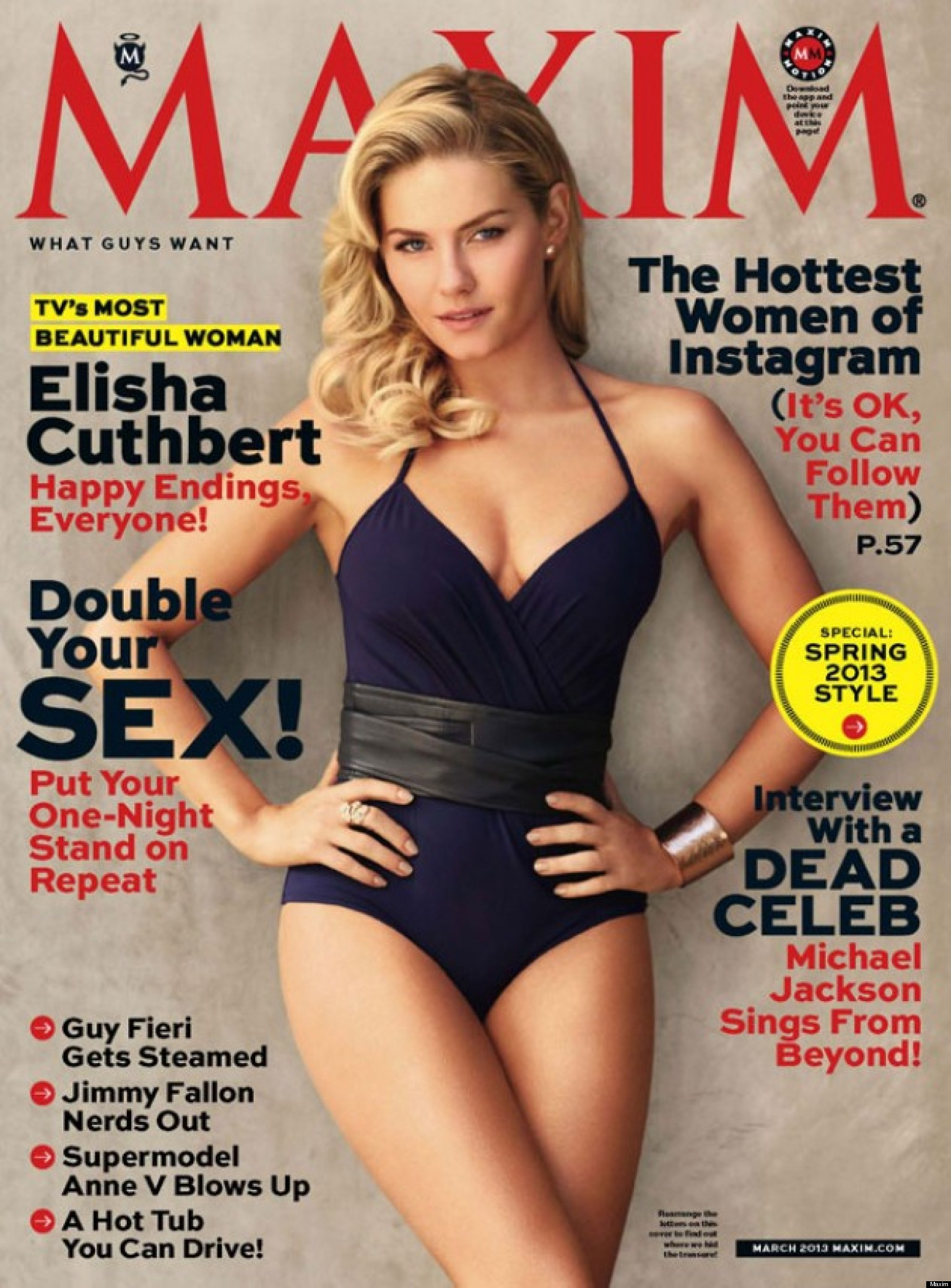 Elisha cuthbert 39 s hot maxim cover 39 happy endings 39 actress Sexy 30