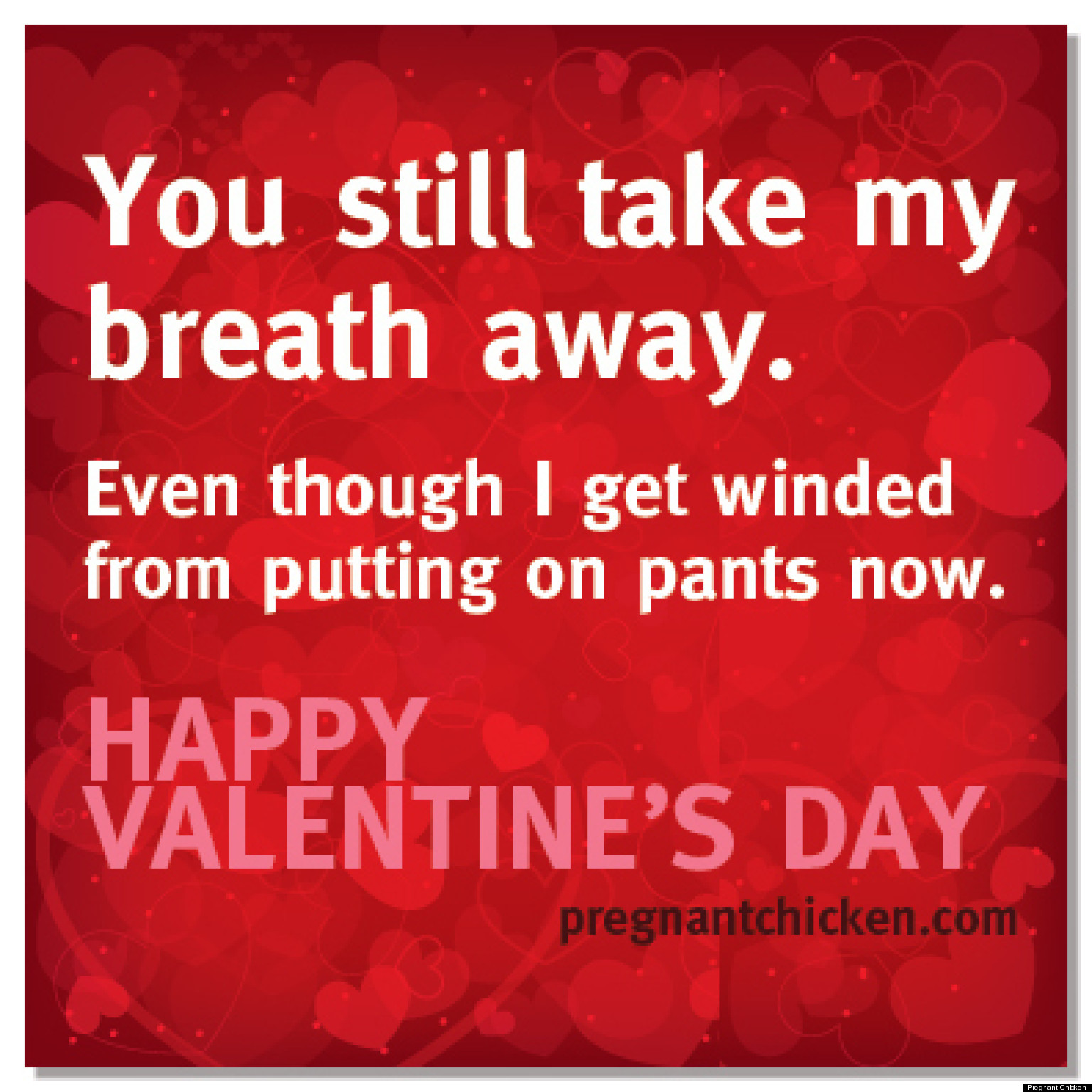 Funny Valentines For Pregnant Women To Give Their Partners