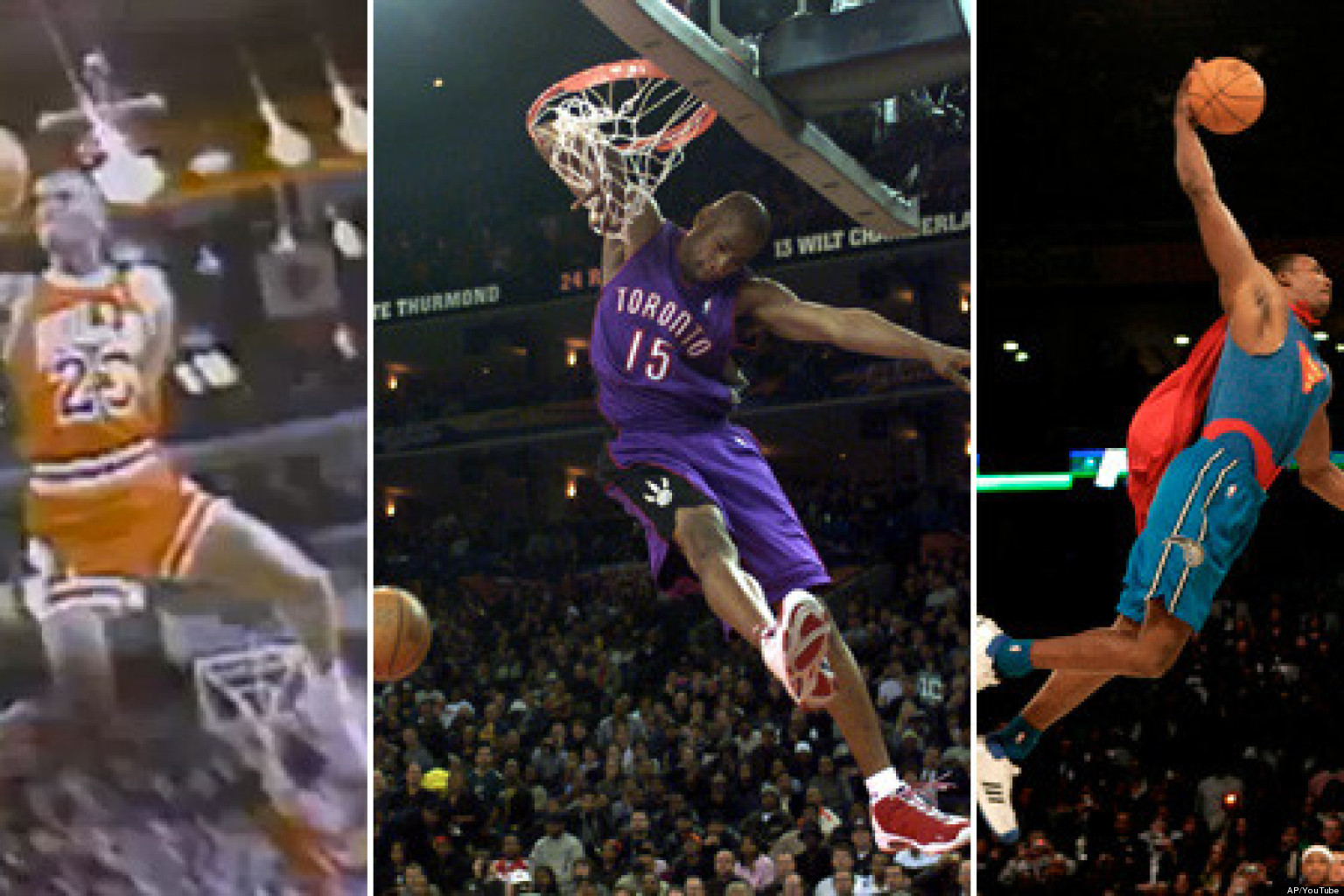 Best Slam Dunk Contest Dunks Bracket Michael Jordan Dr J And Vince Carter With All Time Slams