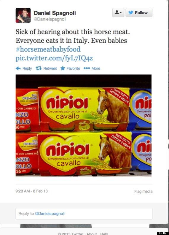 horse meat tweet